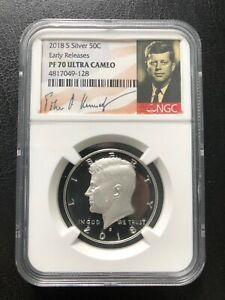 2018- S  50C SILVER EARLY RELEASES NGC- PR-70UC RARE