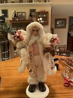 "Santa Claus with Gifts & Teddy Bear Christmas Medium17"" Standing Decor"