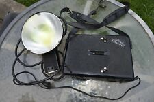 Vintage Germany Metz Mecablitz Flash Unit and Power Pack Powers Up need TLC