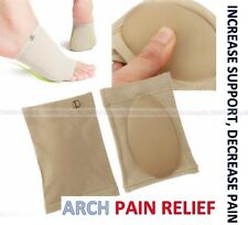 2x Arch Support Shoe Gel Insole Flat Feet Pad Pain Relief Plantar Fasciitis Foot