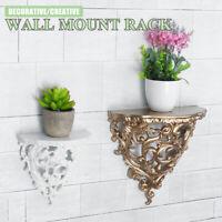 Antique Wall Mounted Shelf European Resin Flower Plant Rack Hanger Home  % ] /