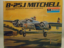 VINTAGE MONOGRAM #5502 1/48 SCALE B-25J MITCHELL NEW IN ORIGINAL BOX