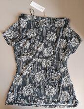 Ladies NEW John Rocha grey / white top  - size 12 (40)