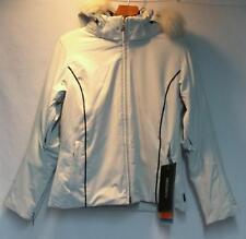 Descente Women's Zetta Elegance Snow Ski Winter Jacket White Black Size 12 NEW