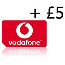 Official UK Vodafone Pay As You Go Sim Card Triple Cut With £5 Credit Preloaded