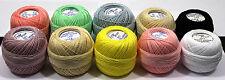 20's Lesur Pixie Crochet Cotton Balls- Mix Colour Set-Thread Thickness Size 20's