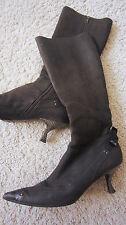 EDEL: Lederstiefel dunkelbraun 37,5 PRADA Leder Stiefel 37 1/2