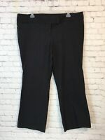 Torrid Womens Dress Pants Size 26 Black Silver Pinstripe Stretch Boot Cut Career