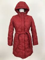 Eddie Bauer Women's EB650 Fill Goose Down Puffer Coat Jacket Belted Red Size XSP