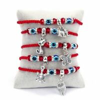 5pcs Lucky Evil Eye Bead Bracelet Rope String Braided Bangle Elephant Butterfly