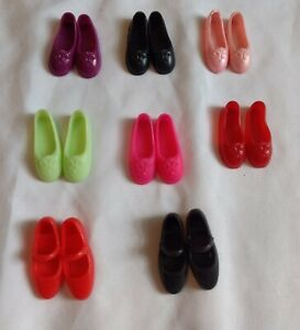 8 pair of doll shoes for Poseable-Large Feet-Flat Foot Barbie/Jazzie/Liv/Mulan