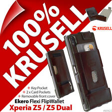 Krusell Ekero Flip Wallet Stand Folio Case Cover for Sony Xperia Z5 / Z5 Dual