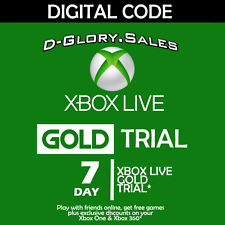 XBOX LIVE 7 DAY (1 WEEK) GOLD TRIAL DIGITAL CODE (GLOBAL)