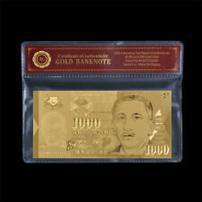 Singapore $1000 24K Gold Plated Banknote