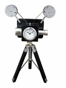 Decorative Legs Projector Vintage Clock On Wooden Tripod Stand Office/Home Gifts