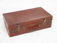 Vintage Brown Suitcase 1930s 1940s Very Battered Wedding Prop Needs TLC Leather