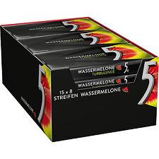 15 Packs x Wrigley´s 5Gum Chewing Gum Watermelon (TURBOLENCE) / 120 Stripes