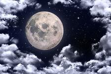 Fototapete Mondhimmel Mond Kinderzimmer - Kleistertapete oder Selbstklebende