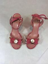 Moschino Cheap & Chic Pink Suede Strappy Sandals w/ Bow Size 5.5