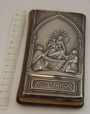 BREVIARIO ANTICO 1902 COPERTINA PELLE E ARGENTO ISTITUTO ARTI GRAFICHE BERGAMO
