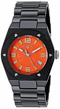 Swiss Legend - 10054-BKOTSA - Black Ceramic Women's Quartz Watch Orange Dial