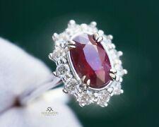 Ruby Diamond Ring Gold 14K Natural 2.92CT NO HEAT GIA Certified RETAIL $9,800