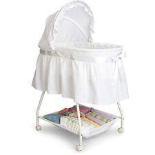 Delta Children Classic Sweet Beginnings Bassinet White Baby Newborn Cozy New