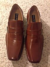 Bruno Marc New York Brown Leather Slip-On Oxford Mens Shoes Size 12