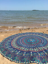 Indian Hippie Mandala Round Beach Cotton Throw Bohemian Tapestry Yoga Mat 44