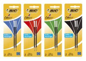 BiC® 4 COLOURS Kugelschreibermine M, 2 Stück, Farbe wählbar