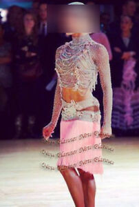 L961 women Ballroom  swing Ramba Latin/Rhythm Samba US 8 Dance Dress fringes