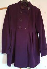 Manteau  violet Naf Naf  femme taille 36/38 et pour milieu  de  grossesse