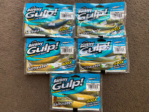5 Packets X Berkley Gulp Sea Fishing Bait Outfishes Lure Live Bait Pike Etc New