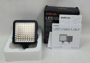 Godox LED64 Lightweight Portable Video Light 64 LED Lights fr DSLR Cam Camcorder
