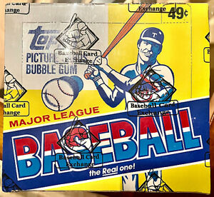 1983 TOPPS BASEBALL CELLO BOX, FASC - RARE - BBCE- AUTHENTICATED, 24 CELLO PACKS