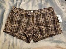 Aeropostale girls juniors Wool/Poly Plaid Shorts Sz. 0 NWT Black Gray