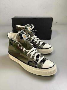 Men's NWB Converse x Carhartt Green Camo Shoes Size 9.5
