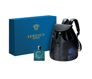 Versace Eros Pour Homme Mens Fragrance Backpack 2 Piece Gift Set