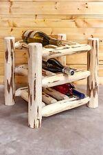 Log Wine Racks Countertop Wine Rack Amish Made Lodge Cabin Wine Decor