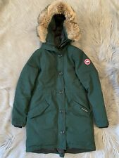 Canada Goose Rossclair Genuine Coyote Fur Trim Down Parka Size