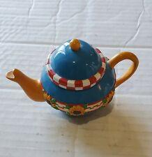 Mary Engelbreit Miniature Teapot Ornament Sunflower Design