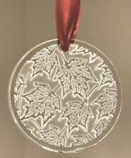LALIQUE 2015 Champs Elysees Clear Crystal Christmas Ornament New Box Gift Wrap