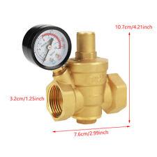 DN25 Adjustable Brass Water Pressure Reducing Valve with Gauge Regulator Reducer