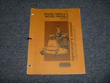 Woods Rm59 2 Rear Finish Mower 540 Pto Tractor Cat 1 Operator Maintenance Manual