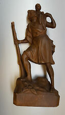 Gesù Bambino Santo Cristoforo legno personaggio LEGNO IN RILIEVO L: 44 cm