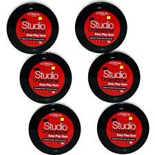 6x Loreal Studio Unzerstörbar Easy Play Gum Haargel Für Biegsame Stylings, 75ml