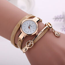 Fashion Women Crystal Stainless Steel Analog Quartz Bracelet Bangle Wrist Watch