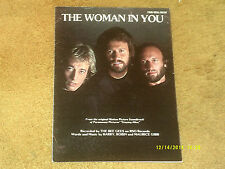 Bee Gees sheet music The Woman in You 1983 6 pages (VG+ shape)