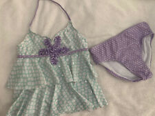 JUSTICE girls 2 piece swimsuit Size 12  EUC
