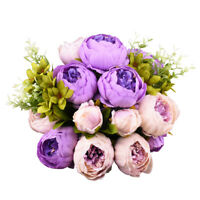 2 Bouquet Artificial Fake Peony Silk Flower Bridal Wedding Party Home Decoration